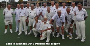 zone 8 Winning Side PRESIDENTS Trophy